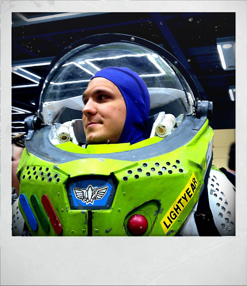 Man dressed up as Buzz Lightyear from Toy Story