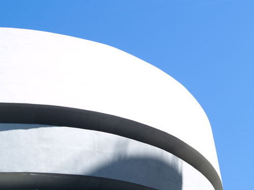 Part of the roof of the Guggenheim Museum
