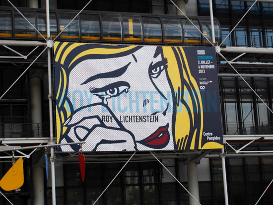 Banner for Roy Lichtenstein exhibition