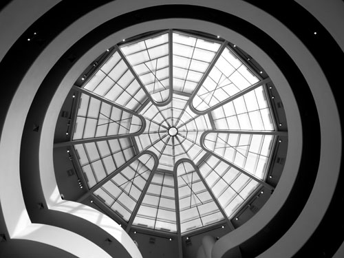 The skylight of the Guggenhiem