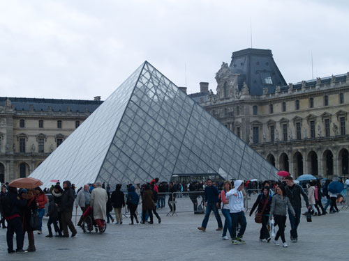 Pyramid entrance at the Louvre