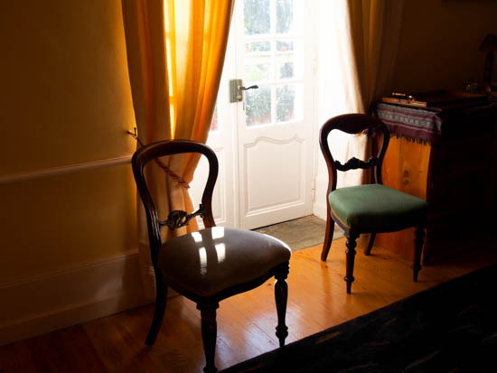 Chairs in the dining room