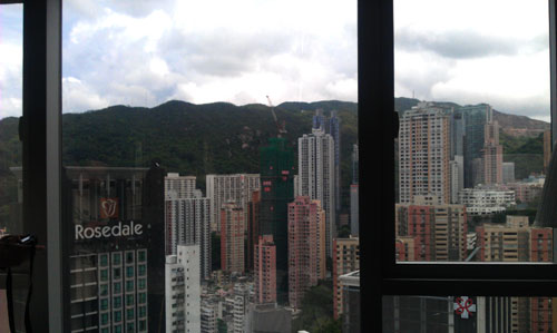 View from our hotel in Hong Kong